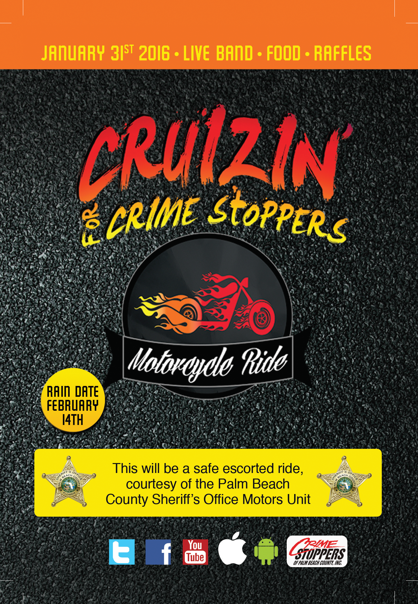 Cruizin for Crime Stoppers 2016 4x6 postcard front